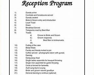 wedding reception program ideas wedding decor ideas With wedding reception program wording ideas