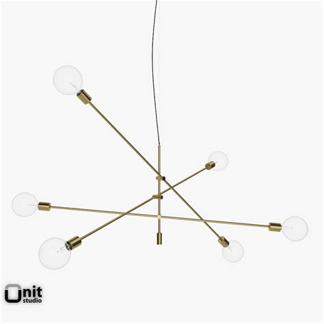 mobile chandelier grand pendant light by w 3d model max