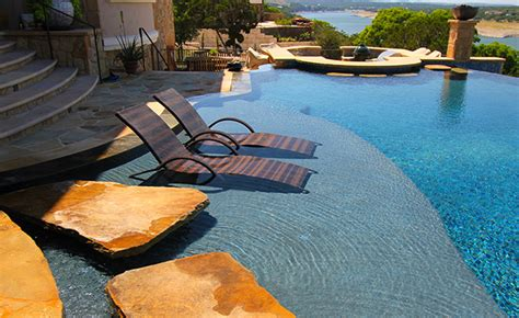 pool design with tanning ledge chair pools