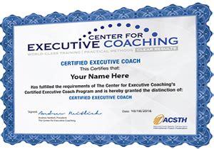 executive coaching certification programs center
