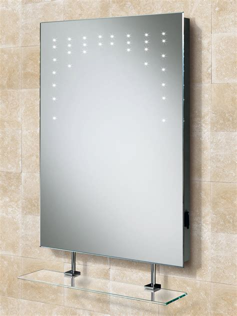 Compact Sinks by Hib Rain Led Bathroom Mirror With Glass Shelf And Shaver