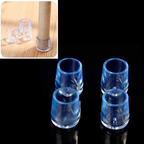 Clear Sleeve Floor Protectors Canada by 4pcs Transparent Rubber Furniture Table Chair Leg Floor