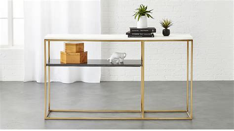 Marble Top Console Table Narrow : Console Table