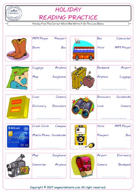 holiday english worksheet  kids esl printable picture