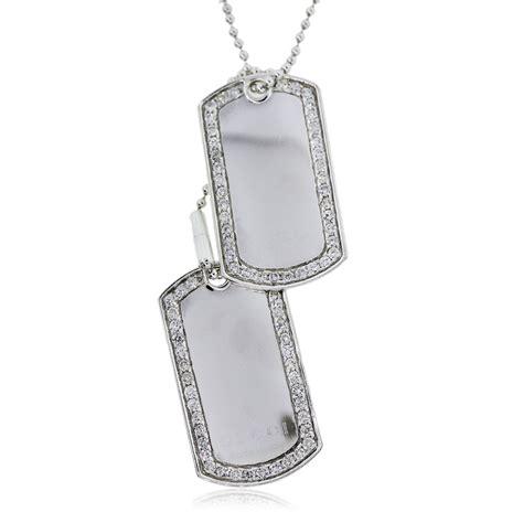 gucci sterling silver diamond dog tag necklace boca raton