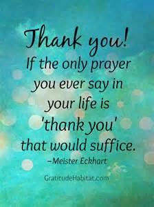Thank You Gratitude Prayer