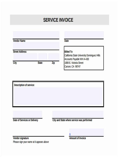 service invoice form   documents  word