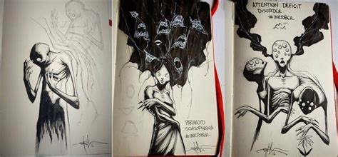 shawn coss  perspective inktober sketches