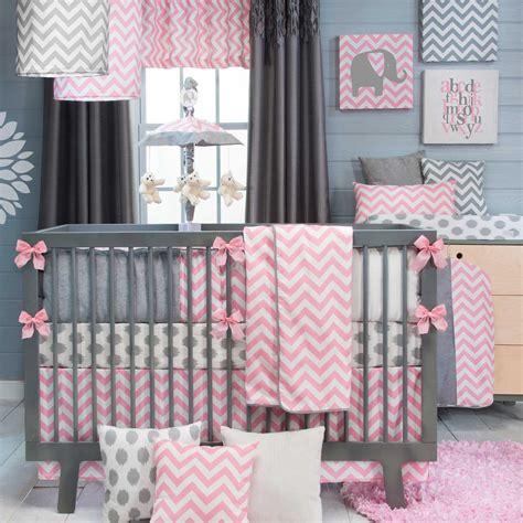 pink and gray nursery bedding decor nursery ideas