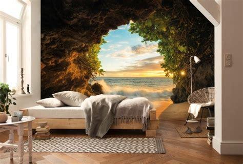 wandtapete schlafzimmer die wandtapete wie eine fototapete den raum v 246 llig