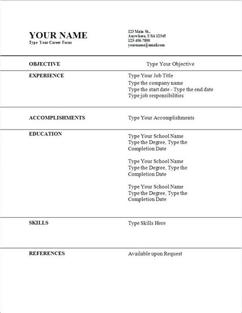 resume examples   year olds resume templates