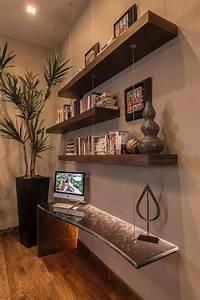Photos Hgtv Floating Wood Shelves And Glass Desk ~ loversiq