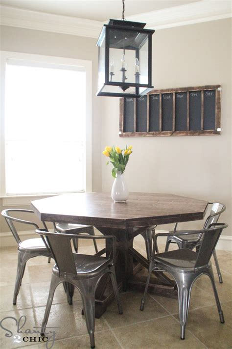 Diy Round Wooden Table For $110!  Shanty 2 Chic