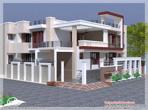 India house design with free floor plan - Kerala home