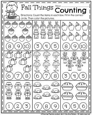 Fall Kindergarten Worksheets For November  Kindergarten Worksheets, Fall Things And Worksheets