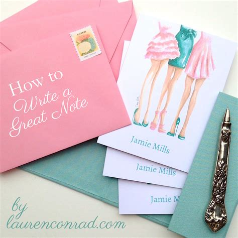 ladylike laws letter writing  lauren conrad