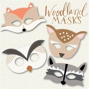 woodland animal masks my blog posts pinterest With woodland animal masks template