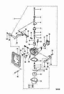 Mercury Marine 2 2m Hp Carburetor Parts