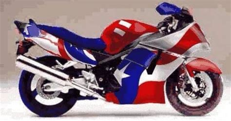 Puerto Rico Flag On A Motorcycle