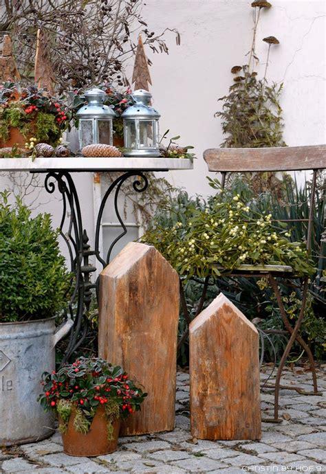 Weihnachtsdeko Shabby Garten by Innenhofdekoration Im Winter Au 223 Endekoration Mit