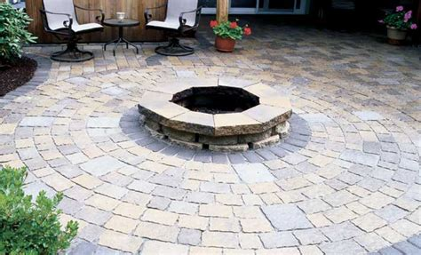 paver options for creating a circular patio the home