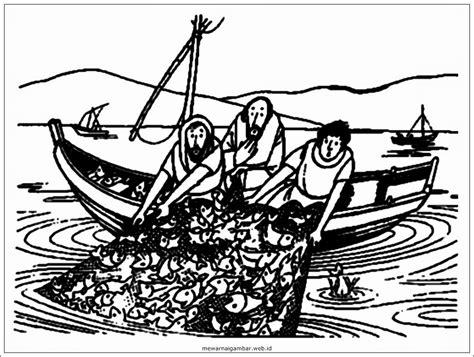 gambar gambar mewarnai pemandangan pantai nelayan pulang