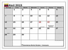 Calendario abril 2019, Venezuela Michel Zbinden es