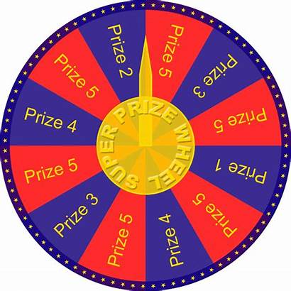 Wheel Transparent Clipart Spinning Prize Roulette Spinnig