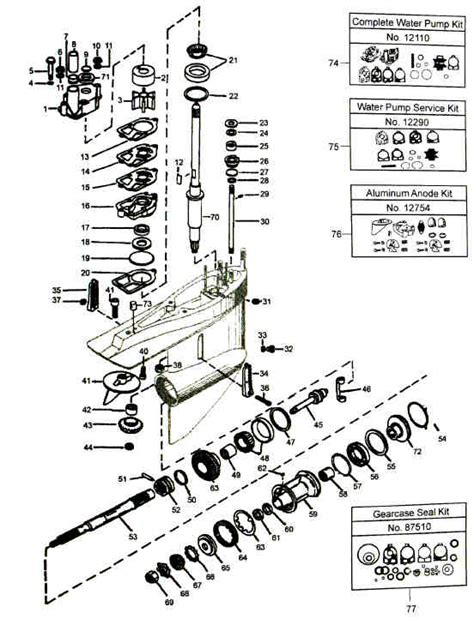 Mercruiser Lower Unit Diagram by Gimbal Mercruiser Sterndrive Parts Diagram