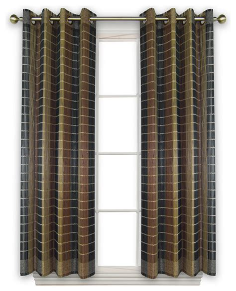 bamboo wood curtain panel with grommets 42 quot x63