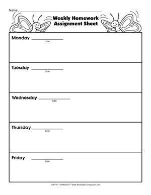 homework sheets for preschoolers the education center mailbox preschool projects homework