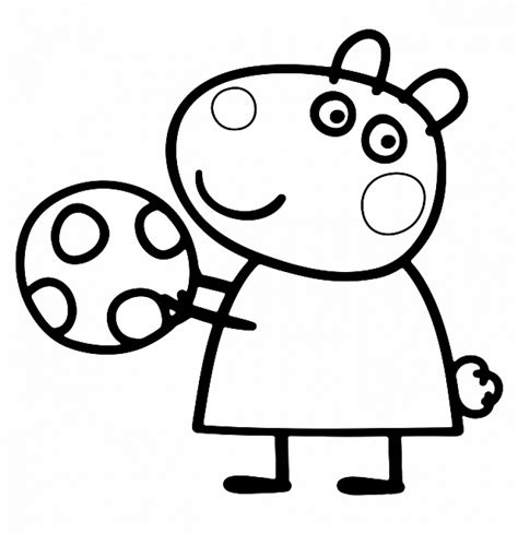 Coloring Peppa Pig by Get This Printable Peppa Pig Coloring Pages 74000