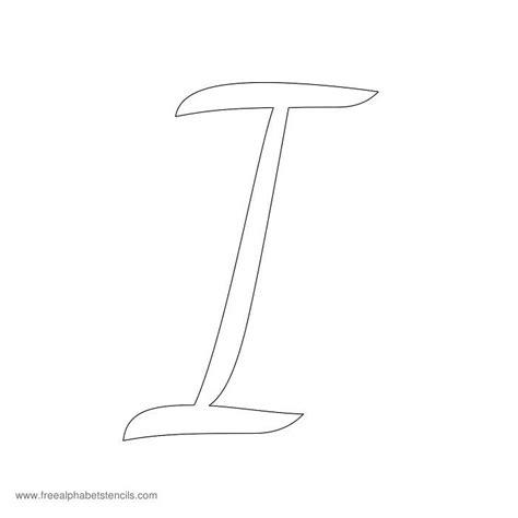 casual cursive alphabet stencils