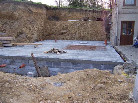 terrassements et fondations pour une maison neuve cl 233 sur porte