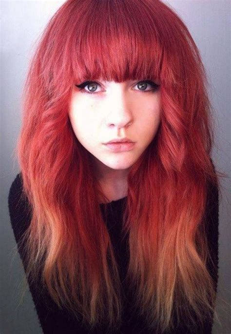 Rusty Red Ombre Hair Colors Ideas