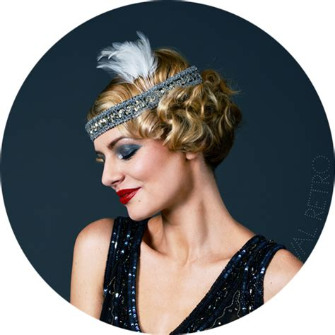 20s Hairstyles With Headband by 1920s Headband With Feather 20s Flapper