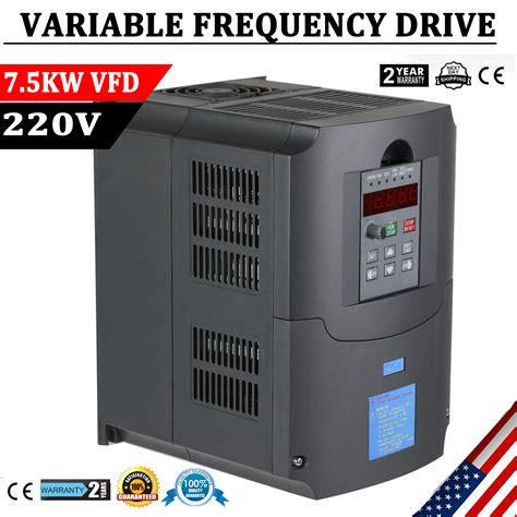 7 5kw 220v variable frequency inverter vfd new 10hp product for cnc ebay