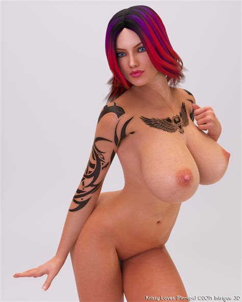 Sexy Naked Babe With Tattoo And Big Boobs Looks Hot
