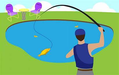 Pond Fishing Fish Clipart Wikihow Ponds Own
