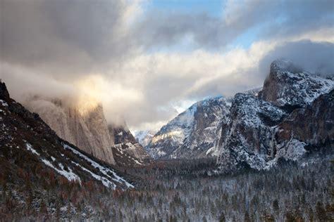 winter scenes yosemite national park california henry