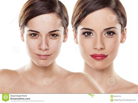 makeup beauty comparison models cvs mark portrait woman before bad skin unaltered without common think cosmetology preview