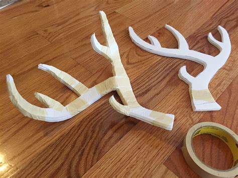 cardboard deer antlers working with foam board for art projects cutting painting etc manning makes stuff