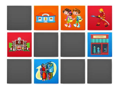 Places in town x Jobs MEMORY GAME - Matching pairs