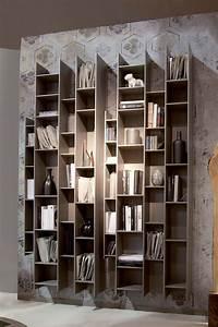 Bibliothèque Murale Bois : byblos biblioth que murale modulaire en bois disponible ~ Premium-room.com Idées de Décoration