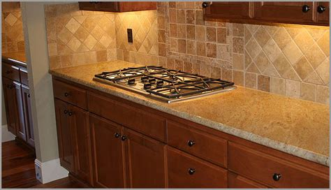 Kitchen Backsplash With Golden Oak Cabinets by Tile Backsplash For Golden Oak Cabinets Madura Gold
