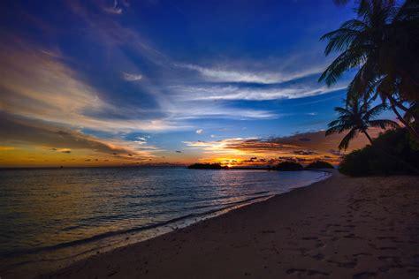 stock photo  beach calm clouds