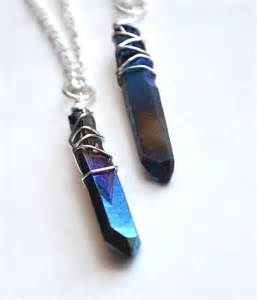 free wedding band quartz necklace titanium wire wrapped necklace
