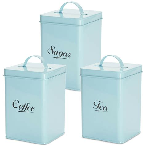 Kitchen Storage Canisters by Andrew 3pc Tea Coffee Sugar Canister Set Vintage