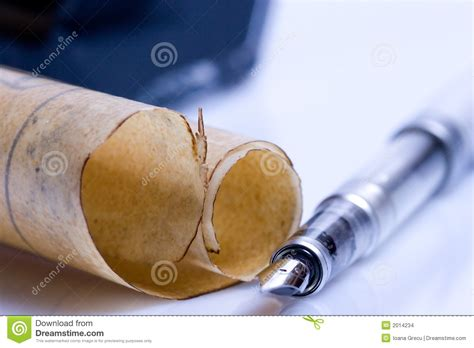 Parchment And Writing Tools Stock Photo  Image 2014234