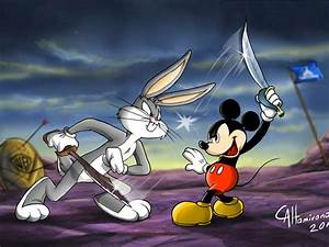 Cartoons Bugs Bunny Mickey Mouse Battle Fencing Game ...